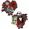 Disney Valentine's Day Pin - 2010 - Jack and Sally