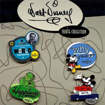 Disney Booster Pin Collection - Walt Disney Quotes