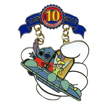 Disney Pin Trading 10th Anniversary Pin - Tribute - Stitch