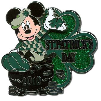 Disney St.Patrick's Day Pin - Mickey Mouse