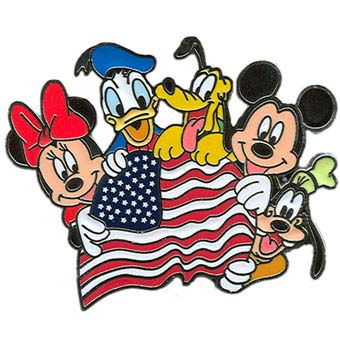 Your Wdw Store Disney Mickey And Friends Pin American Flag