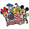 Disney Mickey and Friends Pin - American Flag