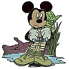 Disney Star Wars Pin - Mickey Mouse as Luke Skywalker with Yoda