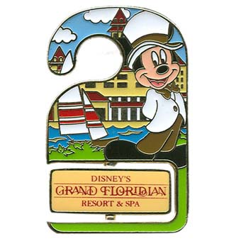 Disney Resort Pin - Do Not Disturb - Grand Floridian - Mickey