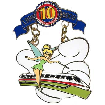 Disney Pin Trading 10th Anniversary Pin - Tribute - Tinker Bell
