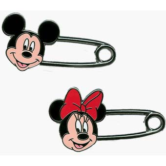 Disney Mickey and Minnie Pin Set - Safety Pins