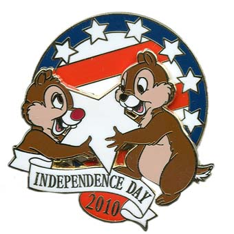 Disney Independence Day Pin - 2010 Chip and Dale