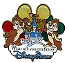 Disney Visa Pin - Chip and Dale with Balloons