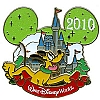Disney Characters With Cinderella Castle Pin - Pluto