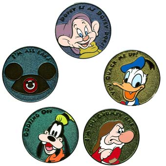 Disney Mystery Pin - Buttons - 6 Pins