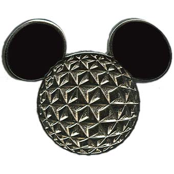 Disney Mickey Pin - Icons - Spaceship Earth