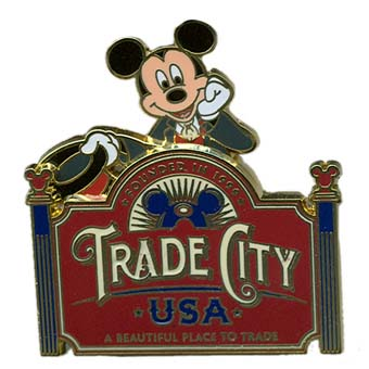 Disney Trade City Pin - Trade City USA - Logo Pin