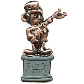 Disney Trade City Pin - Founder's Statue