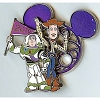 Disney Mickey Mouse Icon w/ Character Pin - Woody and Buzz