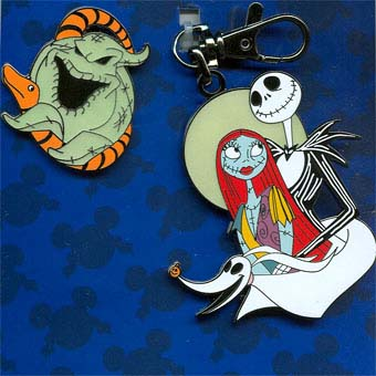 Disney Lanyard Medal and Pin Set - Nightmare Before Christmas