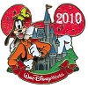 Disney Characters With Cinderella Castle Pin - Goofy