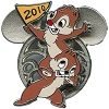 Disney Mickey Mouse Icon w/ Character Pin - Chip n Dale