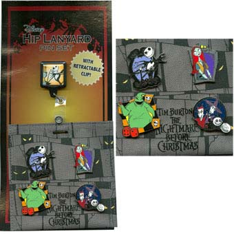 Disney Hip Lanyard Pin Starter Set - Nightmare Before Christmas