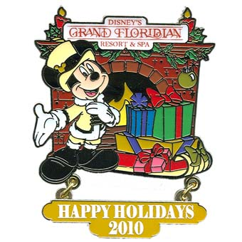 Disney Happy Holidays Pin - 2010 Grand Floridian Resort