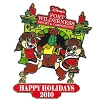 Disney Happy Holidays Pin - 2010 Fort Wilderness Campground