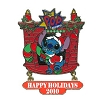 Disney Happy Holidays Pin - 2010 Pop Century Resort