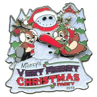 Disney Very Merry Christmas Party Pin - 2010 Chip 'n Dale