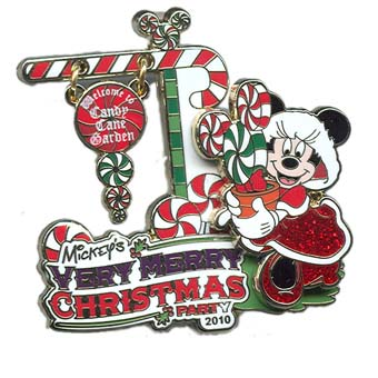 Disney Very Merry Christmas Party Pin - 2010 Minnie Mouse