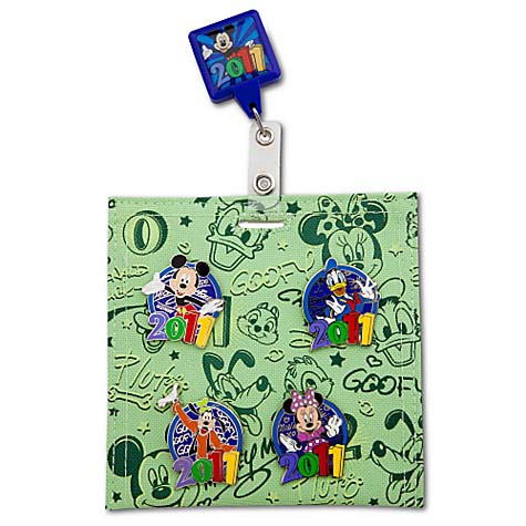 Disney Hip Lanyard Pin Starter Set - Dated 2011