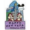 Disney New Year's Day Pin - Chip 'n Dale