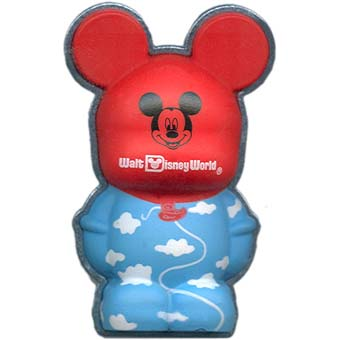 Disney vinylmation Magnet - 3D - Mickey Mouse Red Balloon Head - WDW