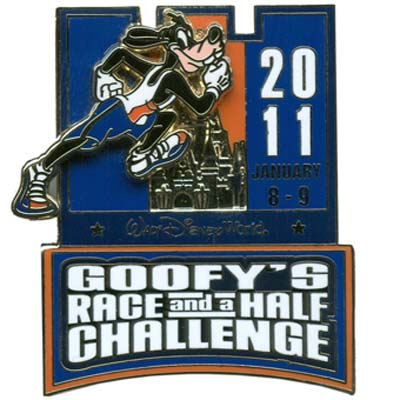 Disney 2011 Marathon Pin - Goofy Race Ribbon