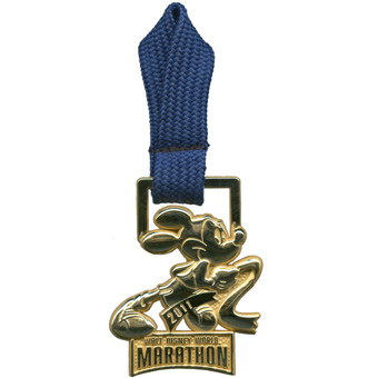 Disney 2011 Marathon Pin - Mickey Mouse Gold Medal
