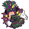 Disney Mardi Gras Pin - 2011 - Mickey Mouse