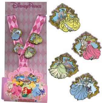 Disney Lanyard Pin Starter Set Princess
