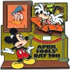 Disney Holiday Pin - April Fools Day 2011 - Mickey and Goofy