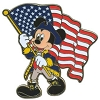 Disney Mickey Mouse Pin - Mickey Mouse with American Flag