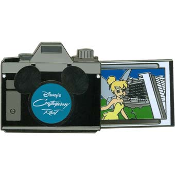 Disney Resort Pin - Camera - Contemporary - Tinker Bell