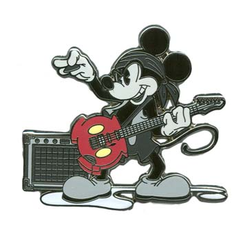 Disney Mickey Pin - Rock Guitarist