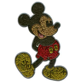 Disney Mickey Pin - Standing Peace Signs