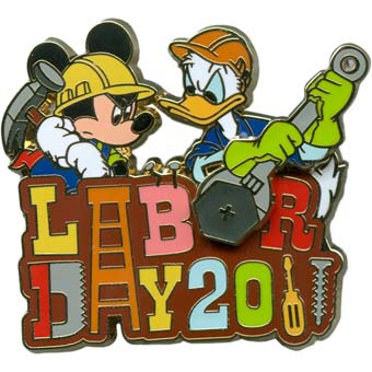 Disney Labor Day Pin - 2011 - Mickey Mouse and Donald Duck
