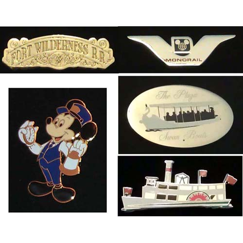 Disney Florida Project Pin Set - Magic Kingdom - Transportation