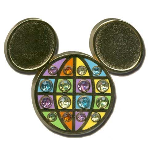 Disney Florida Project Pin - Classic Mickey Icon with Jewels