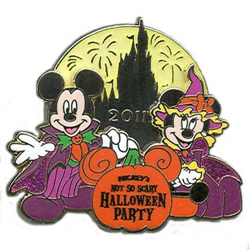 Disney Mickey's Not So Scary Halloween Party Pin - 2011 Passholder