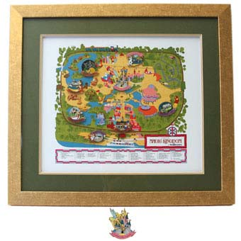 Disney Framed Pin Set - 40th Anniversary - Magic Kingdom