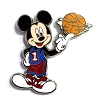 Disney Mystery Pins - Mickey Professions - Basketball Player