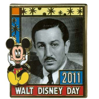 Walt Disney Day Pin - 2011 - Mickey and Walt