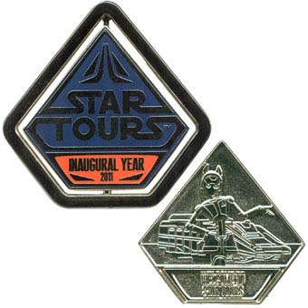 Disney Star Tours Pin - The Adventures Continue - Inaugural Year - Ali