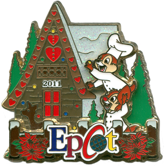 Disney Christmas Pin - Gingerbread House 2011 - Epcot