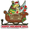 Disney Happy Holidays Pin - 2011 Wilderness Lodge