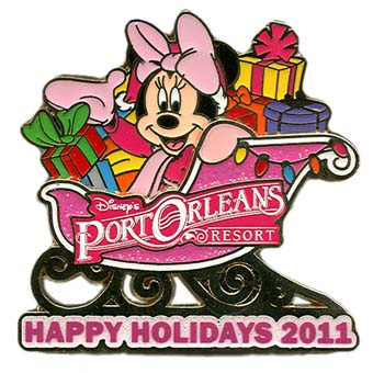 Disney Happy Holidays Pin - 2011 Port Orleans Resort